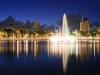 Lagoa do Parque Solon de Lucena à noite